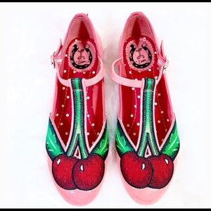 🍒Anthropology Miss L Fire Cherry Mary Jane Flats